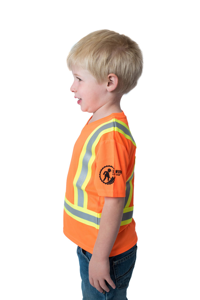 Hi Viz Kids' Safety Shirt Orange