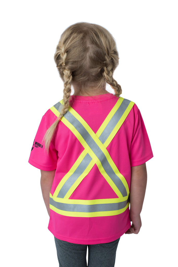 Hi Viz Kids' Safety Shirt Pink