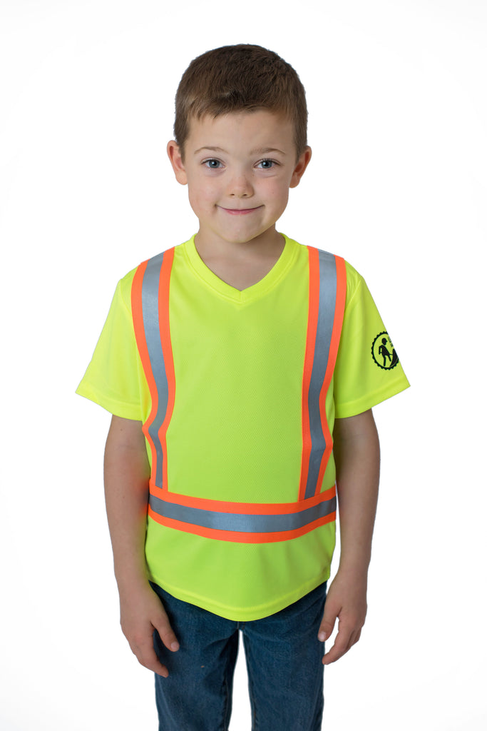 Hi Viz Kids Safety Shirt Yellow