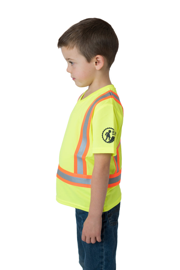 Hi Viz Kids' Safety Shirt Yellow