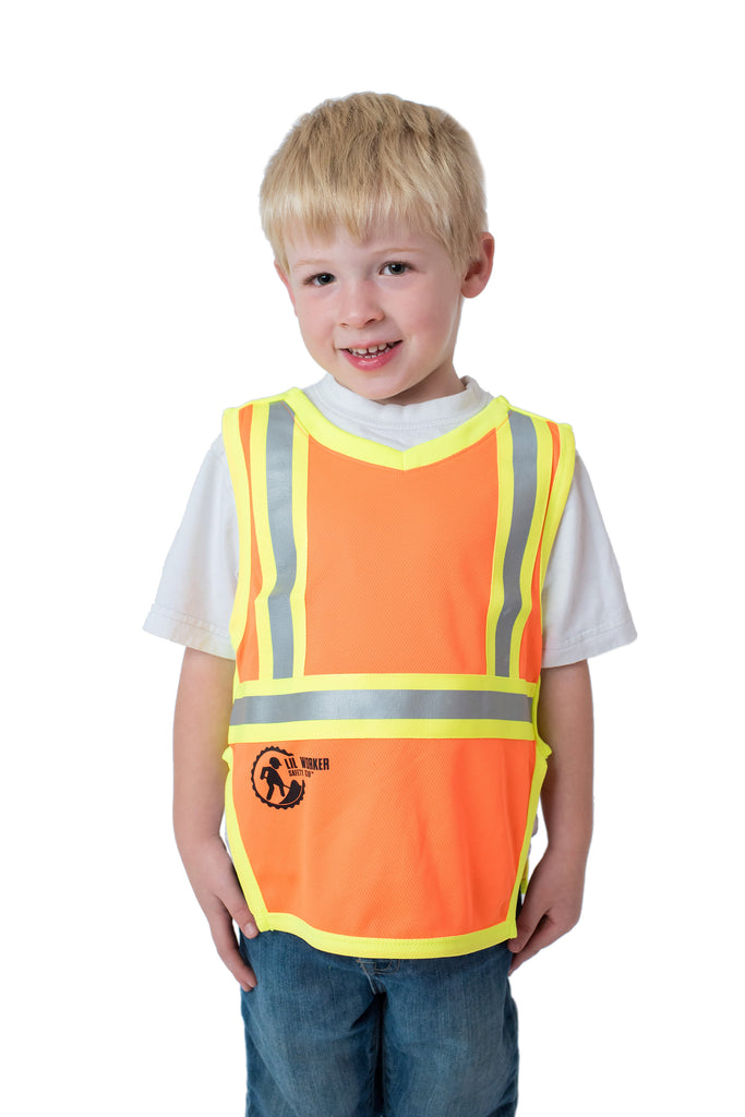 Hi Viz Kids Safety Vest Orange