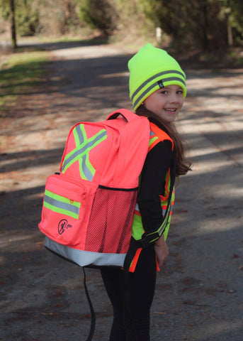 Hi Viz Kids' Safety Backpack - pink/orange