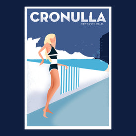 CRONULLA, 1960s retro artwork.