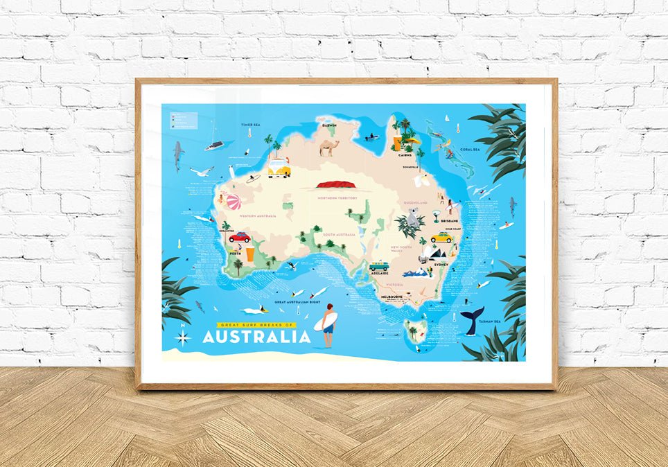 Great Surf Breaks of Australia (Kids & Big Kids map)