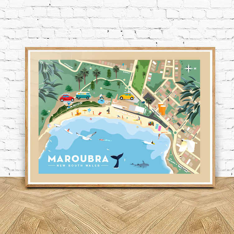 Maroubra Beach Map