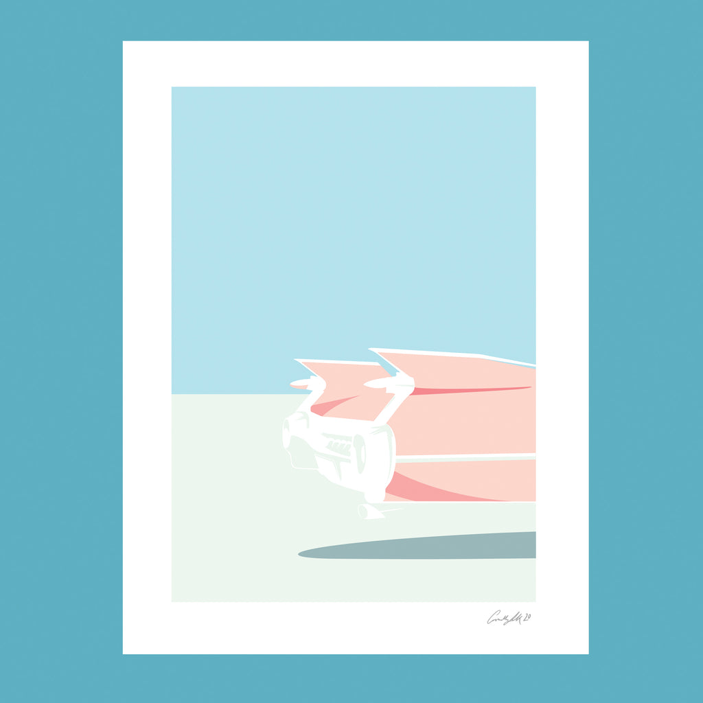 Limited Edition (Giclée print) - Cadillac (Pink)