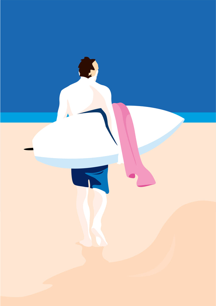 Limited Edition (Giclée print) - Lonesome Surfer