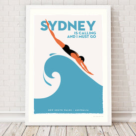 SYDNEY IS CALLING, 1960s retro artwork.