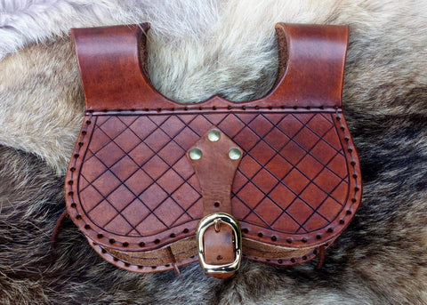 Larp Pouch, Leather pouch, Kidney Pouch