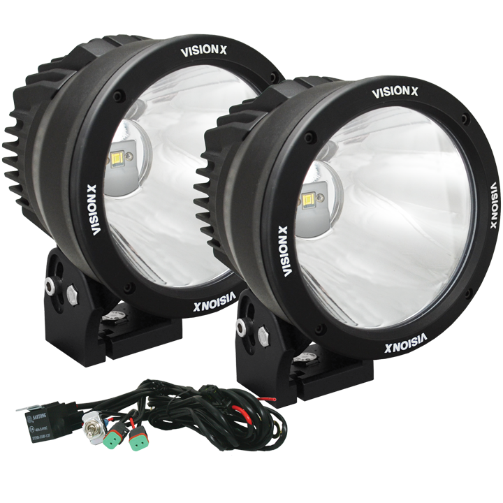 vision x 6 7 light cannon kit renegade outfitters rh renegadestore co za Vision X HID Lights Vision X LED Light Curve