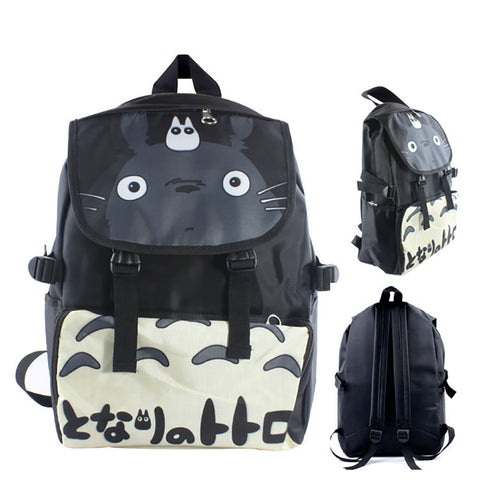 "Anime Totoro 17"" Canvas Bag Backpack - icoshero"