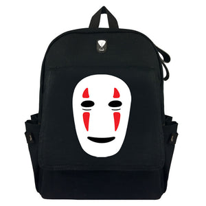"Japanese Anime Spirited Away No Face Man 17"" Canvas Backpack - icoshero"