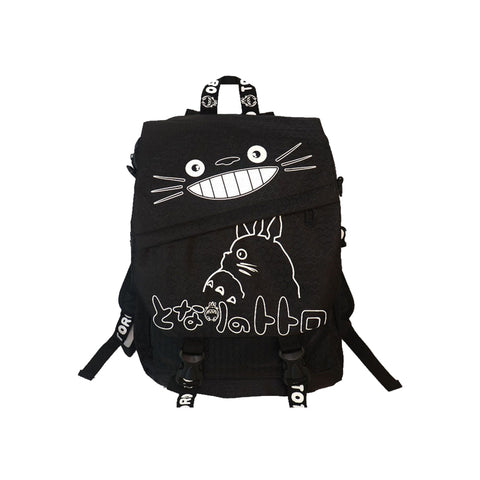"Japanese Anime Totoro Canvas 17"" Backpack - icoshero"