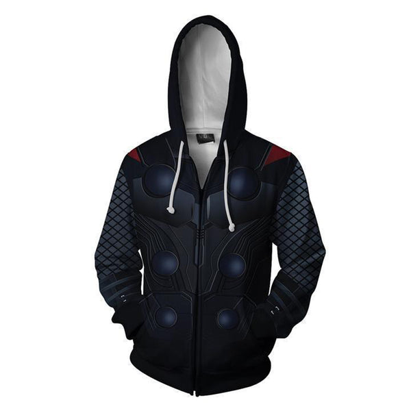 The Avengers 4 Endgame Thor Zip Up Hoodie MZH806 - icoshero