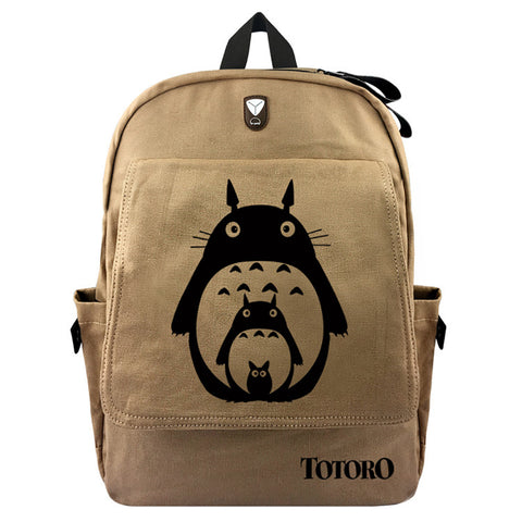 "Japanese Anime Totoro 17"" Canvas Backpack - icoshero"