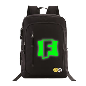 "Game Fortnite Students 17"" Backpack - Green Luminous - icoshero"