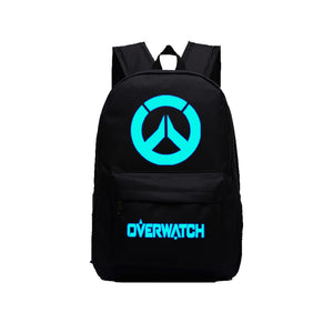 "Game Overwatch 17"" Canvas Luminous Bag Backpack - icoshero"