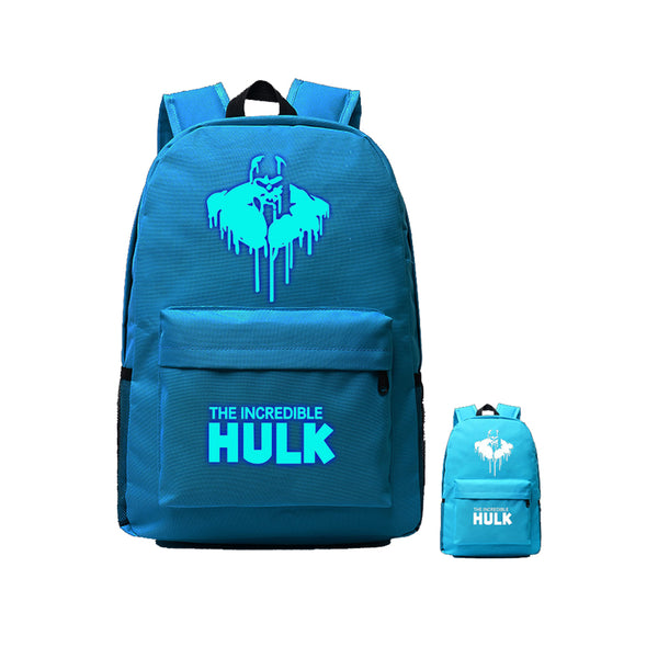"Avengers Hulk 17"" Luminous Shoulder Backpack - icoshero"