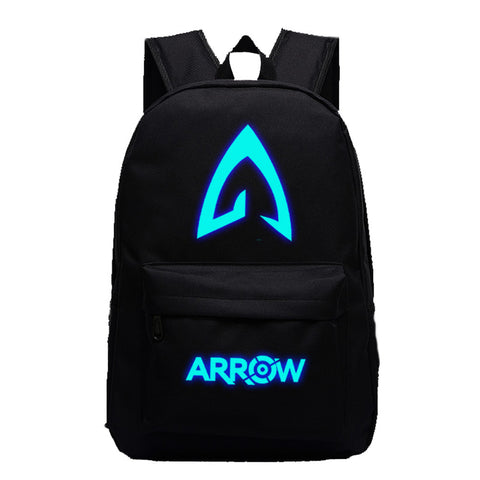 DC Comic The Green Arrow Hooded Vigilante Luminous computer backpack 19X12'' - icoshero