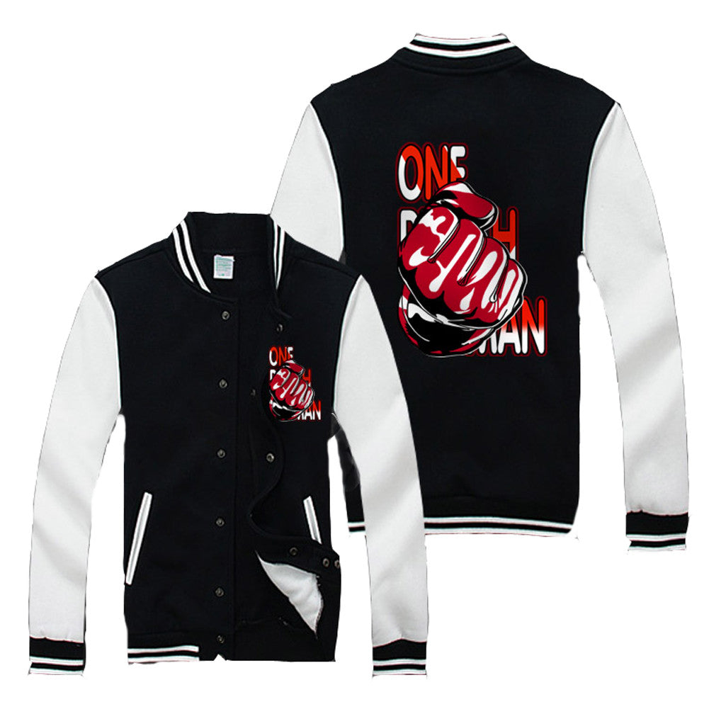 One Punch Man  One Hit Kill baseball Jacket - icoshero