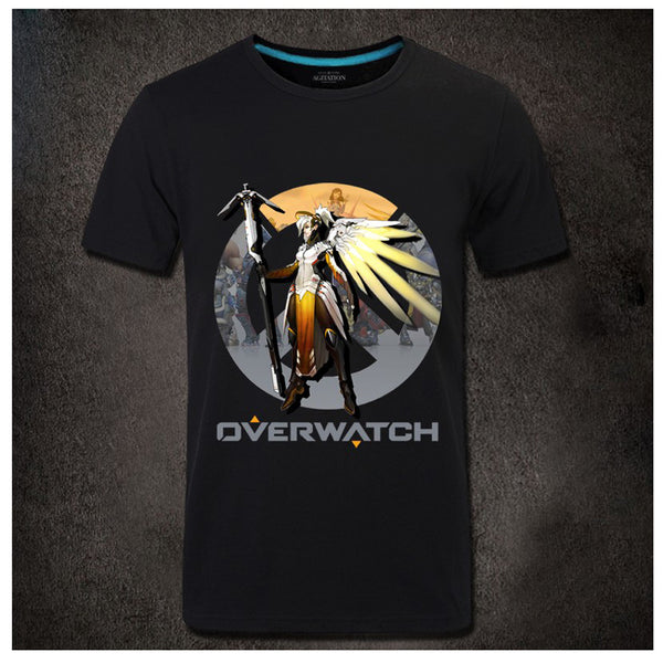 Mens Game Overwatch Character Profile Collection T-shirt - icoshero