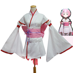 Re:Zero -Starting Life in Another World- Rem Ram Cosplay Suits Kimono - icoshero