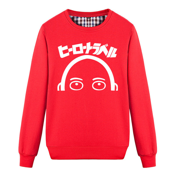 Men's One Punch Man Saitama Long Sleeve Sweatshirt - icoshero