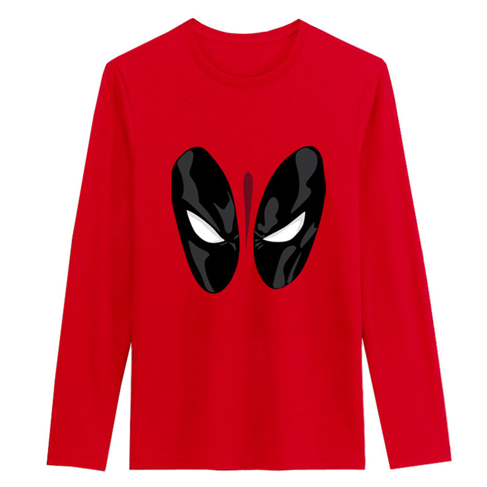 Marvel Deadpool Cartoon Printing Red pullover sweatshirt - icoshero