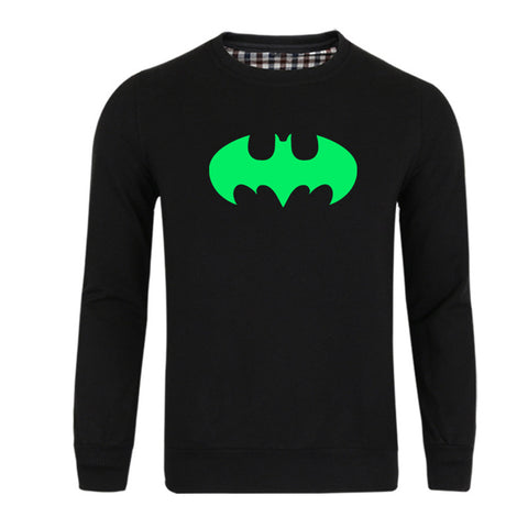 Men's Superhero Batman Ironman Crewneck Luminous Sweatshirt - icoshero