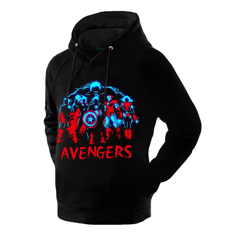 Avengers Captain Ironman Black Glowing Thicken Hoodie - icoshero
