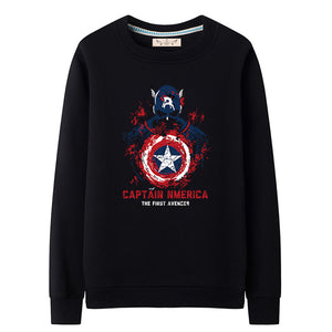 Men's Captain America Pullover Fleece Crewneck Sweatshirt - icoshero