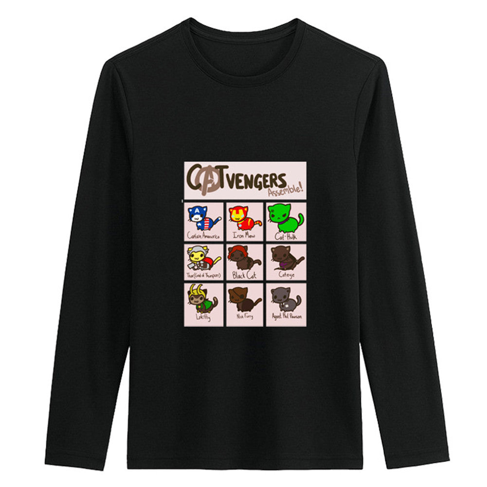 Men's Lovely Design Sudoku Catvengers Crewneck Long Sleeve Cotton Sweatshirt - icoshero