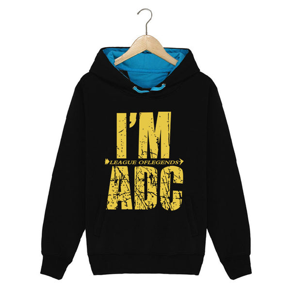 Men's League Of Legends LOL Fleece Pullover ADC APC SUP Hoodie - icoshero