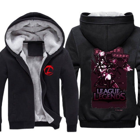 Men's League of Legends LOL Zip Up Fleece Thicken Hoodie - icoshero