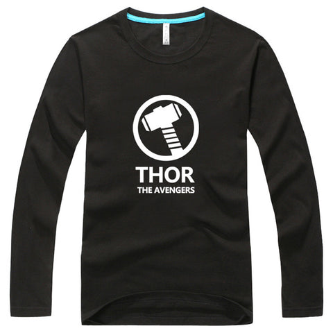 Marvel Avengers Thor Long Sleeve Cotton Blend T-Shirt - icoshero