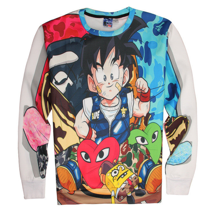 Anime Dragon Ball 3D Printing Long Sleeve Sweatshirt - icoshero