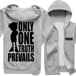 Anime Detective Conan Zip Closure Fleece Hoodie - icoshero
