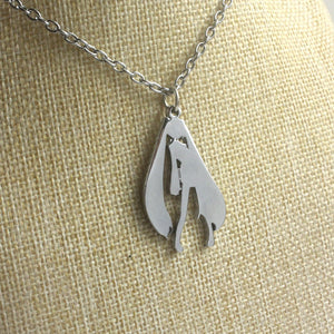 Hatsune Miku Silvery Pendant Zinc Alloy Necklace Small Accessory - icoshero