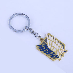 Attack on Titan Wings of Freedom Survey Corps Mark Keychain Necklace Eren Yeager Captain Levi - icoshero