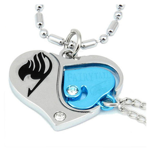 Fairy Tail Guild Mark Artificial Embedded Blue Diamond Pendant Keychain Valentines Necklace - icoshero