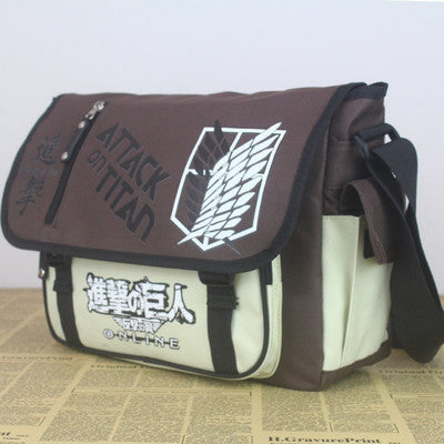 Attack on Titan Wings of Freedom Oxford cloth Messenger Bag Shoulder Bag - icoshero