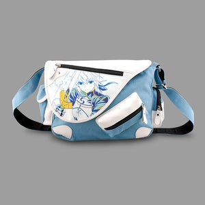 Fate/Zero Fate/Stay Night Saber Denim PU Canvas Messenger Bag Shoulder Bag - icoshero