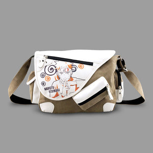 Naruto Hokage no Ninja Uzumaki Naruto Denim PU Canvas Messenger Bag Shoulder Bag - icoshero