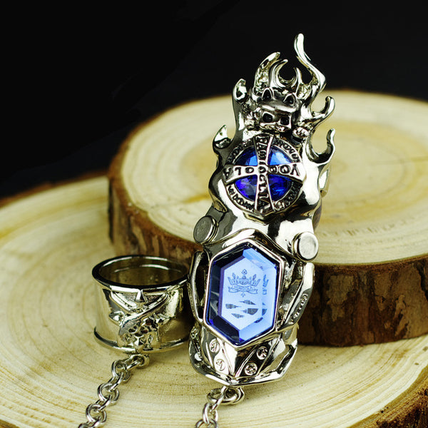 Katekyo Hitman Reborn Vongola Family Guaraians Single Artificial Gemstone Finger Stall Ring Set - icoshero