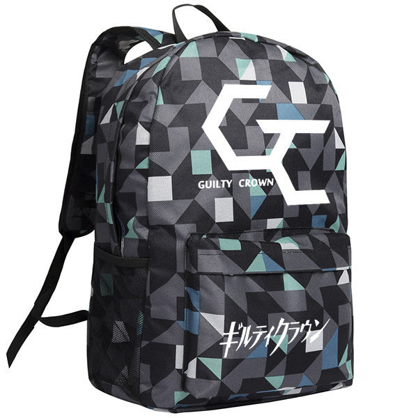 Guilty Crown Logo Patterns Backpack Knapsack Bag - icoshero