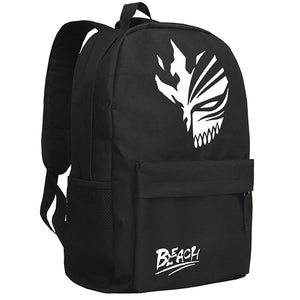 Bleach Ichigo Kurosaki Hollow Mask Pattern Black/Camo Backpack Bag - icoshero