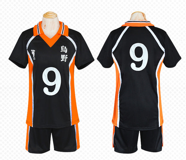 Haikyu!! Karasuno High School Volleyball Team Sportswear Shirt&Pants Set Cosplay Uniform - icoshero