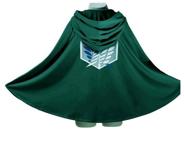 Attack on Titan Wings of Freedom Levi Captain Eren Yeager Cosplay Cloak Cape - icoshero