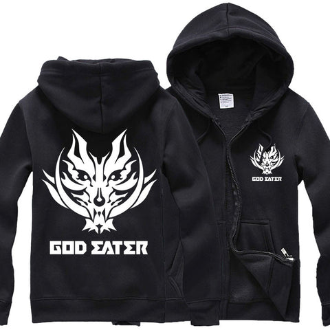 God Eater Game Fenrir Wolf Head Mark Hoodie Coat - icoshero