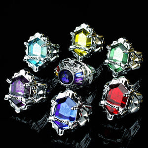 Katekyo Hitman Reborn Vongola Family Guardians Rings Set(7 rings+1 chain) - icoshero